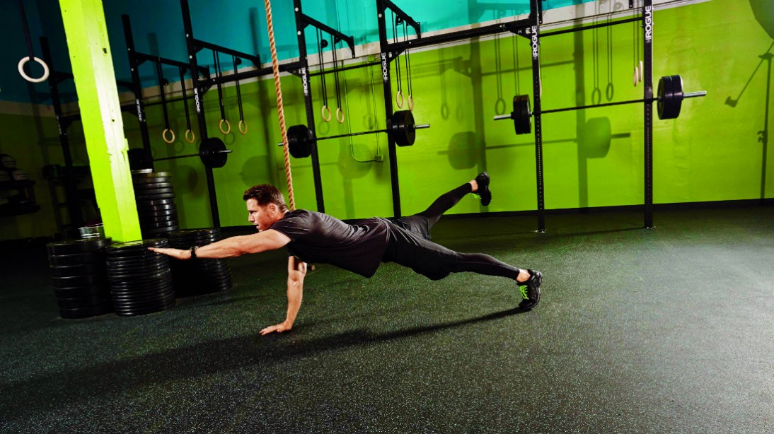 bird dog bodyweight exercise