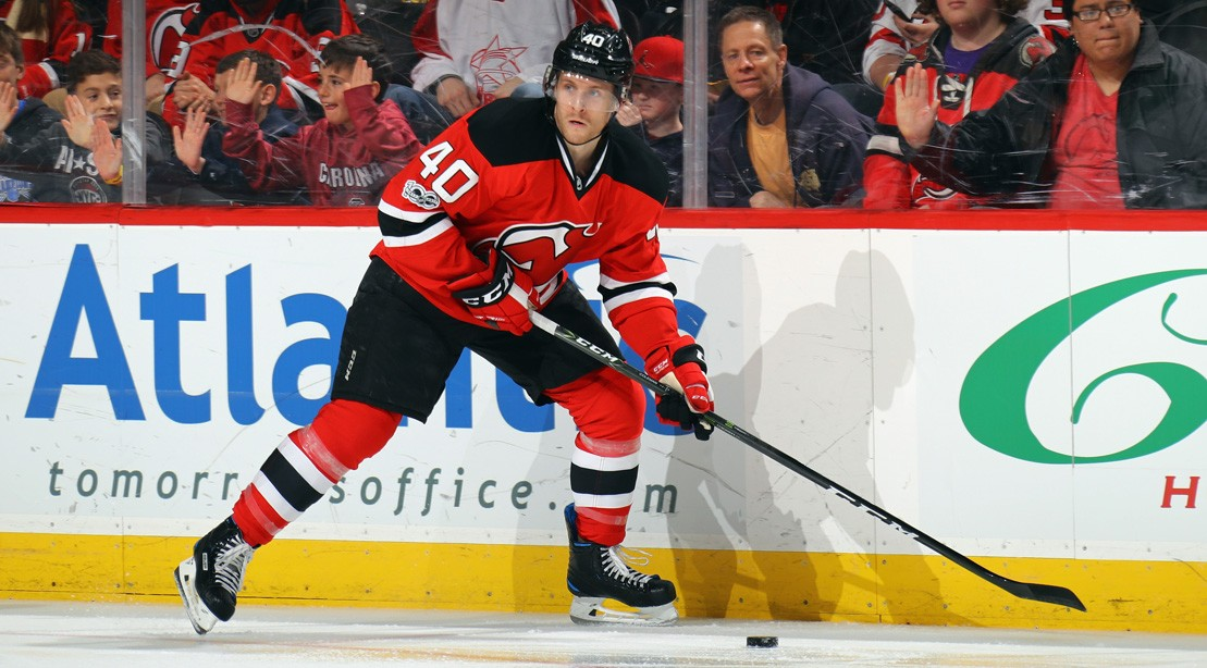 Blake Coleman #40 Of The New Jersey Devils Skates
