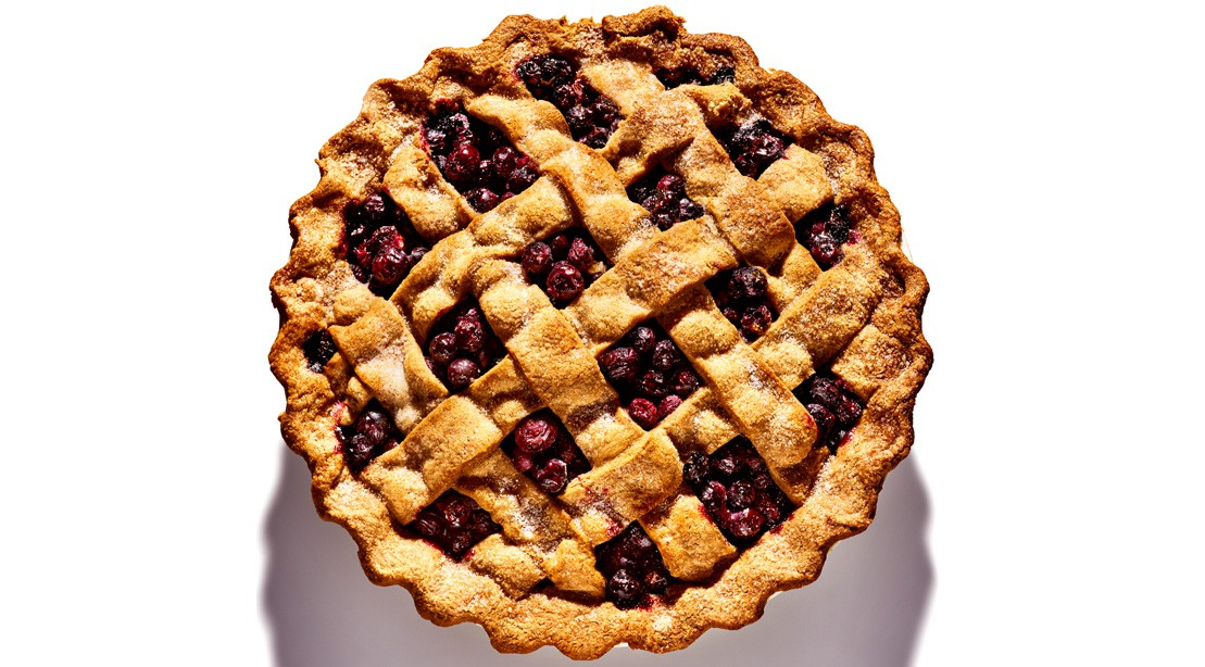Homemade blueberry pie.