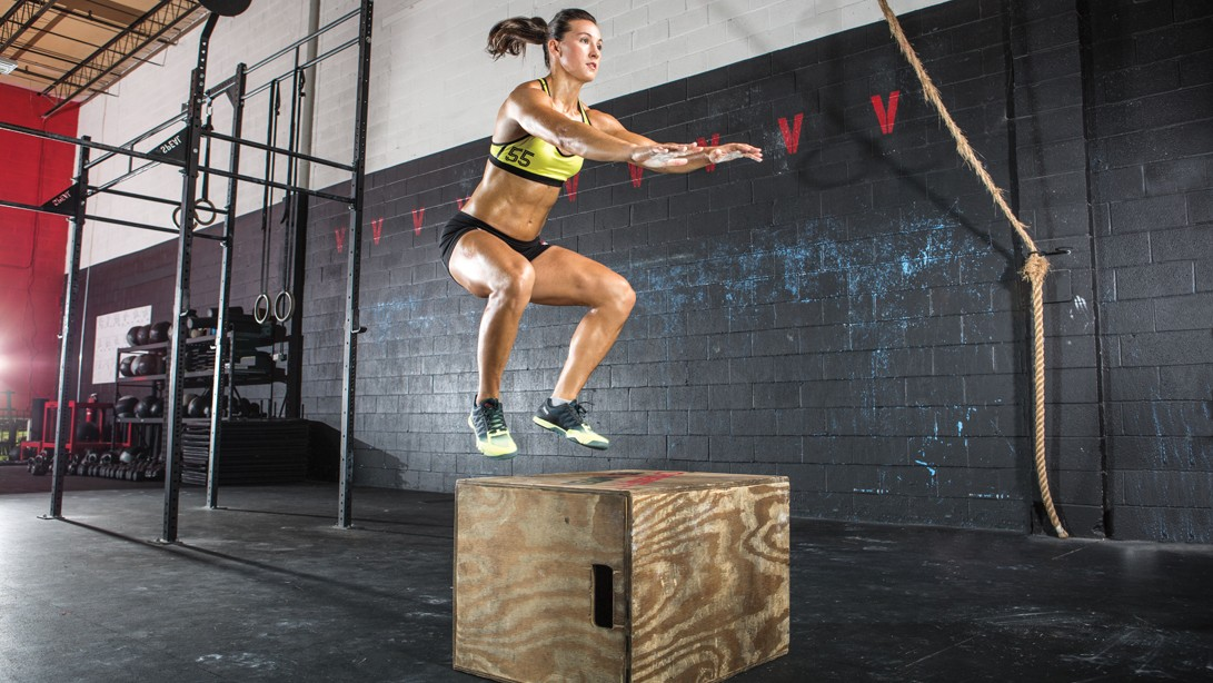 Woman Doing A Box Jump
