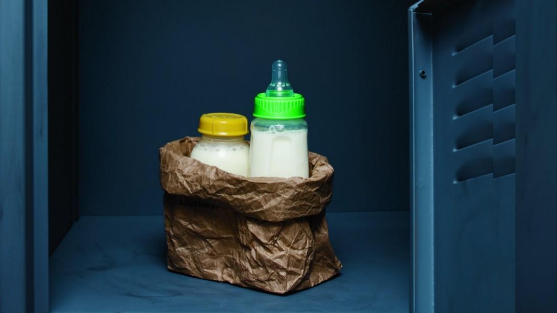 breast milk in locker