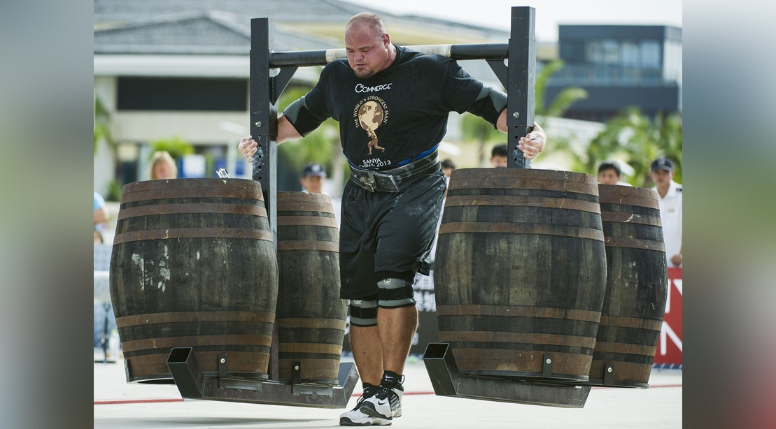 Brian Shaw Of Usa Competes At The Super Yoke Event