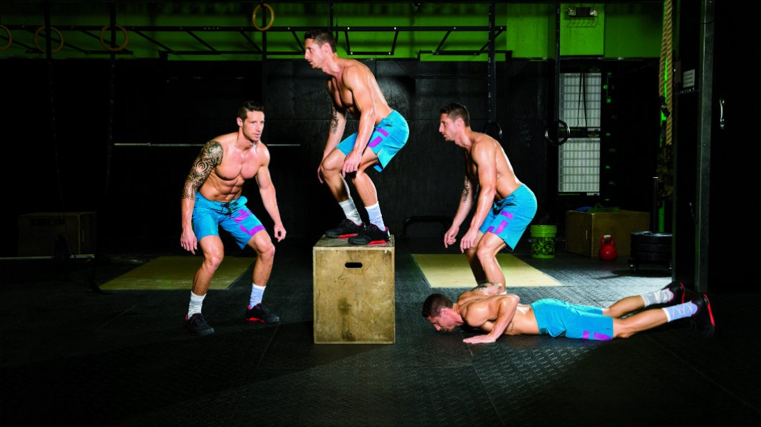burpee box jump-over CrossFit exercise