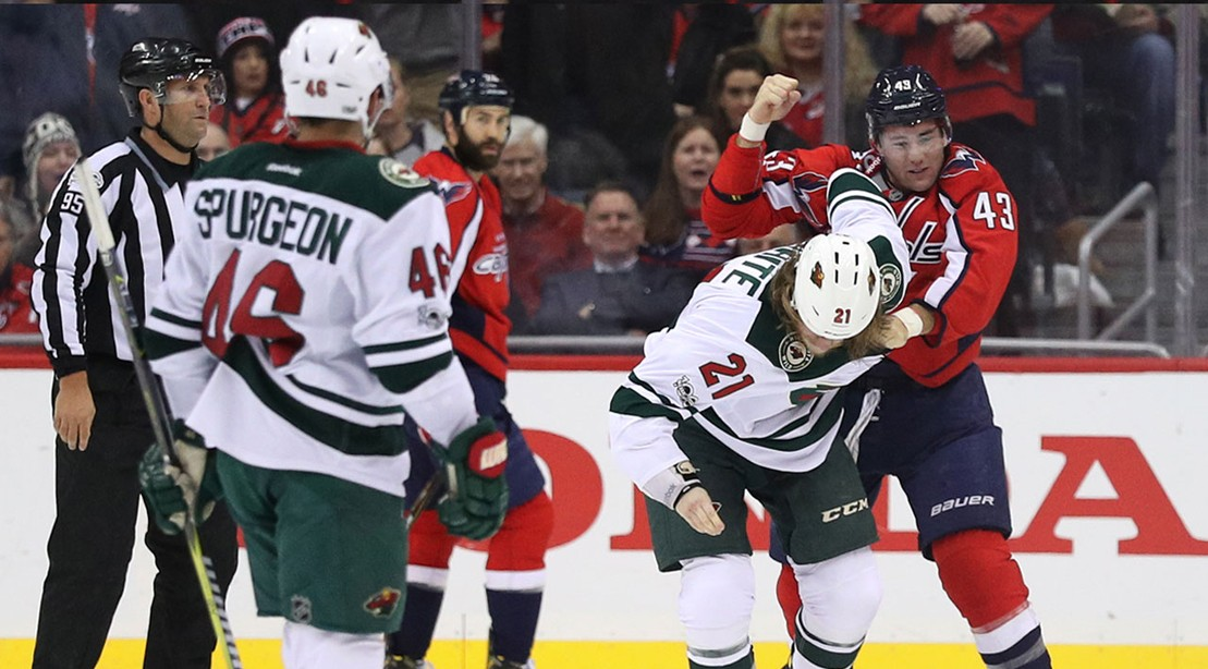 Tom Wilson Capitals Fight With Minnesota Wild  (Tom Wilson In A Different Fight—He Really Likes To Fight)