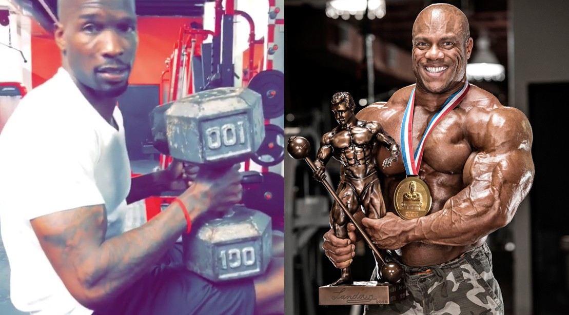 Chad Johnson Blasts 100-pound Dumbbell Press, Calls out Phil Heath, and Claims Steak on 2018 Mr. Olympia Trophy
