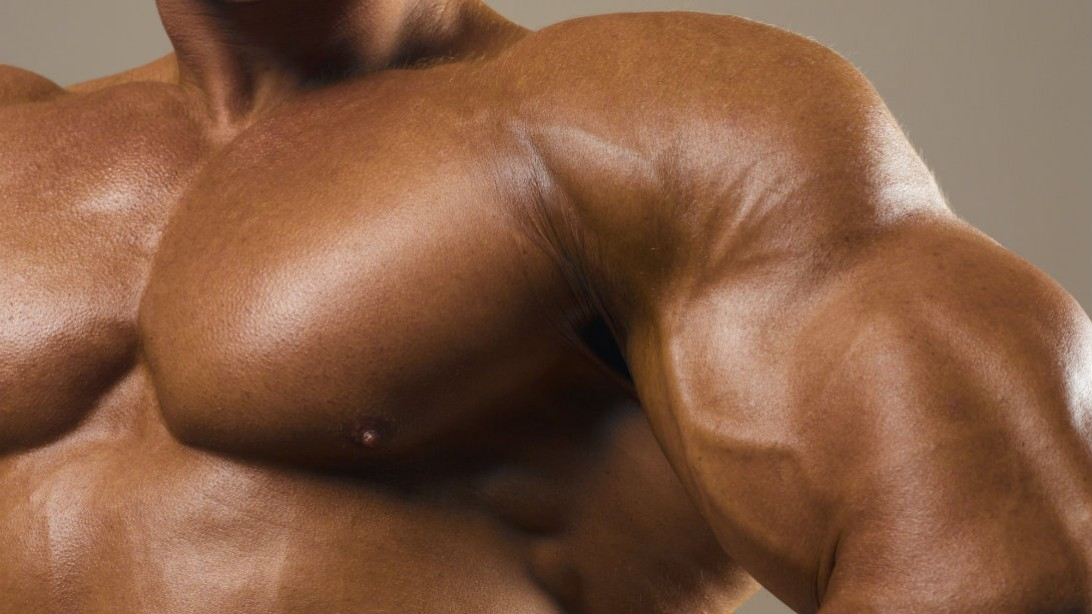 chest closeup bodybuilder