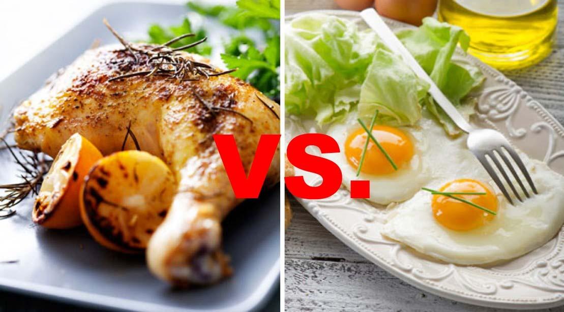 chicken vs. eggs