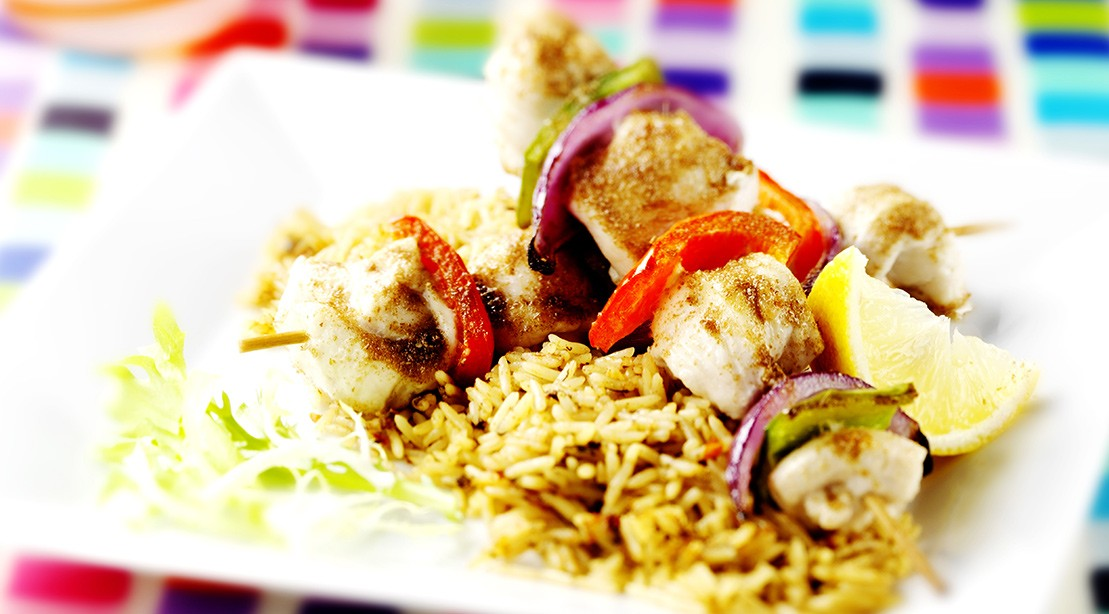 Healthy recipes chicken kabobs with mediterranean brown rice chicken kabobs forumfinder Images