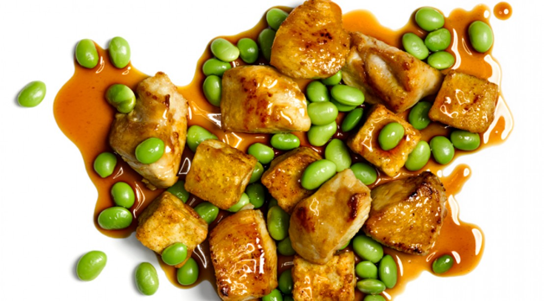 Soy-Glazed Chicken and Tofu