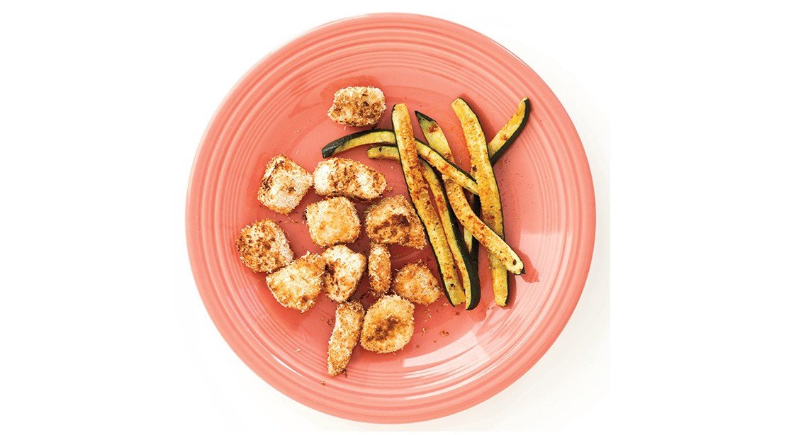 Coconut Lime Chicken with Zucchini Fries