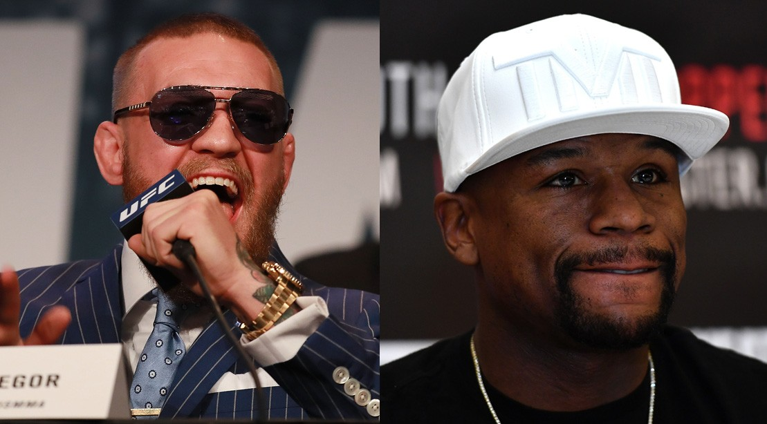 Conor McGregor And Floyd Mayweather Speaking at Fight Press Conference.