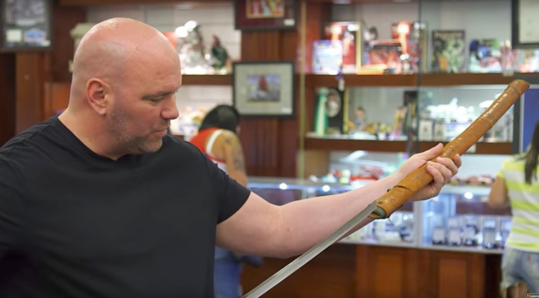 Watch: UFC's Dana White Allegedly Drops $69K Worth of Samurai Swords for His Weapons Room