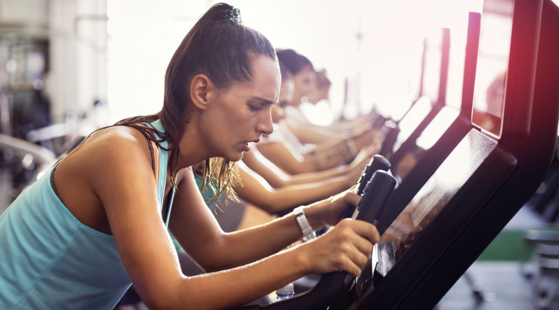 Woman on the Elliptical Tired