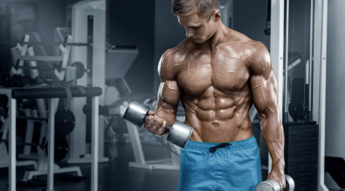 dumbbell curl standing 1109