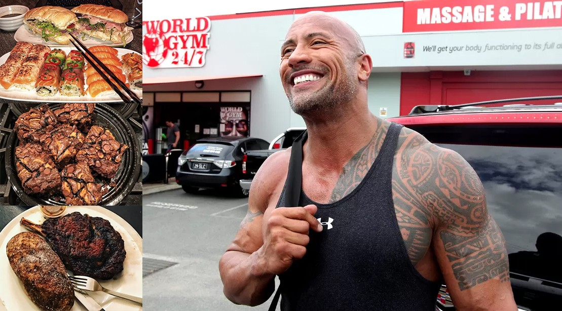 Photos Every Time Dwayne The Rock Johnson Binged On A