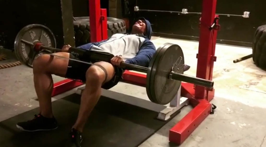 Take A Look At The People's Champ Crush A Few Knee-Banded Glute Raises