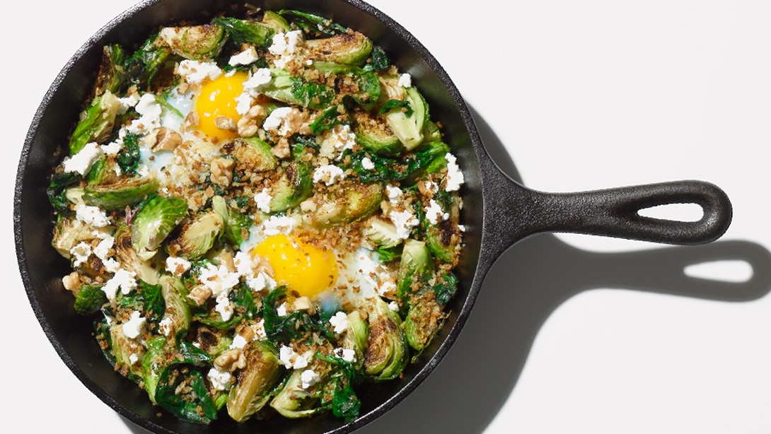 Brussels Sprouts And Egg Hash