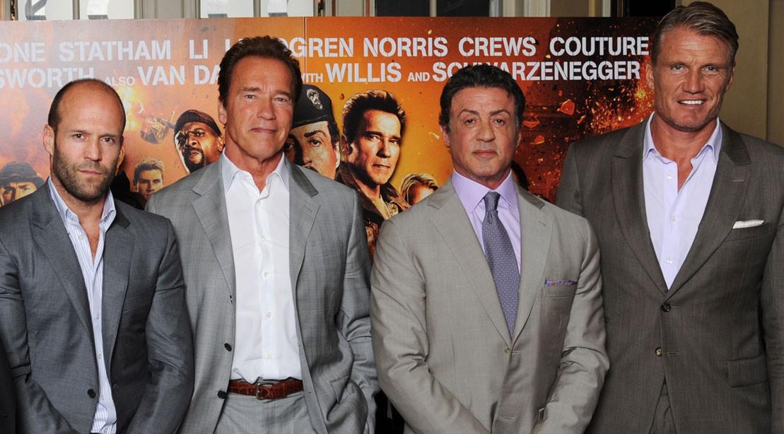 Jason Statham, Arnold Schwarzenegger, Sylvester Stallone, Dolph Lundgren