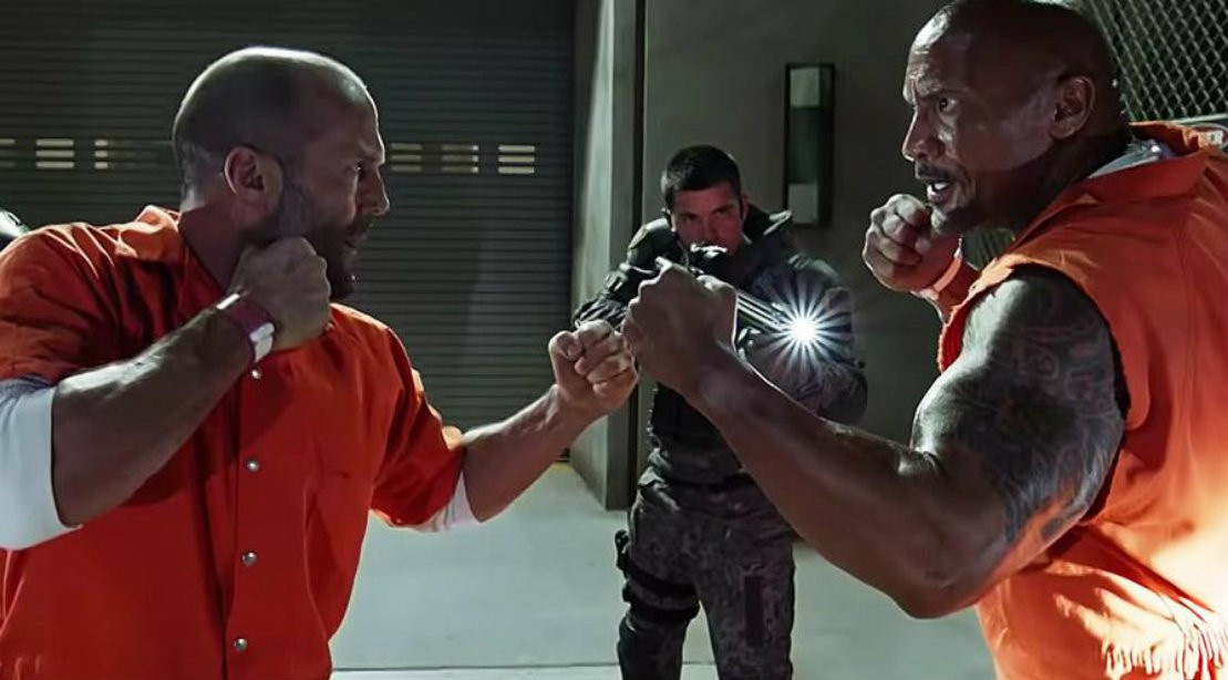 Jason Statham And Dwayne 'The Rock' Johnson Fight During Scene In 'Fate Of The Furious'