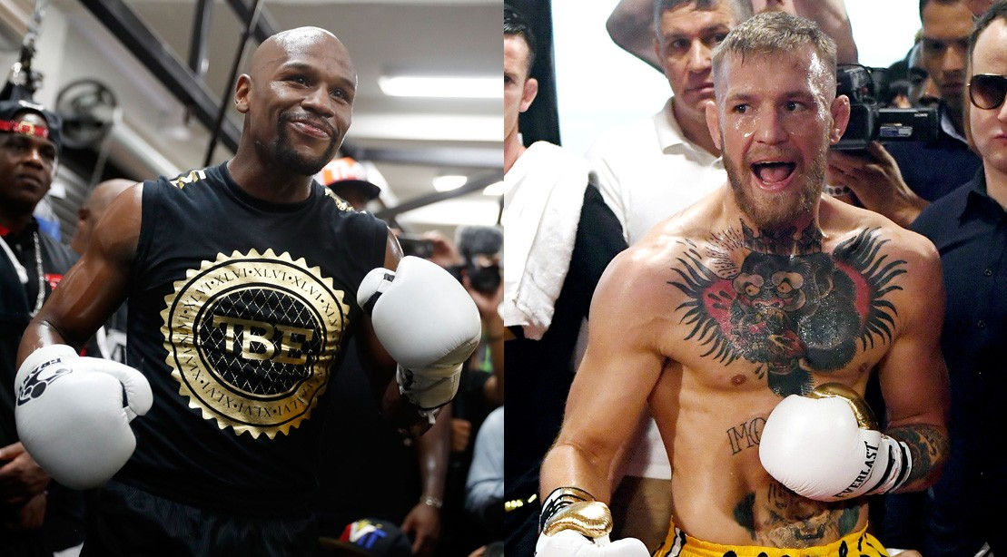 Watch: Troll Master Mayweather Jr. Enters the Octagon, McGregor Responds