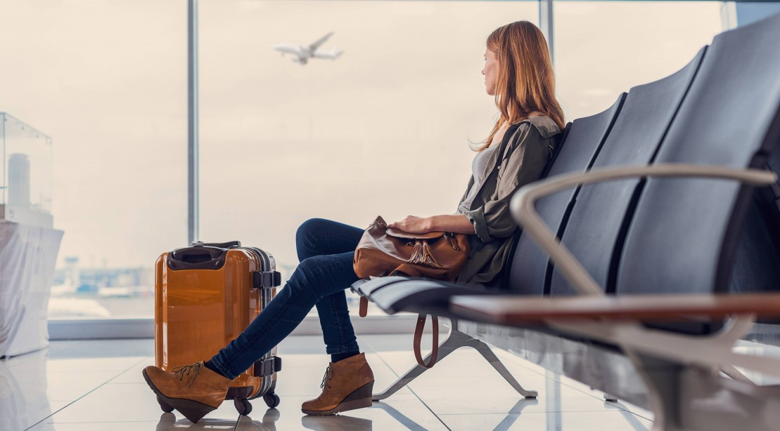 Woman Waiting in the Airport