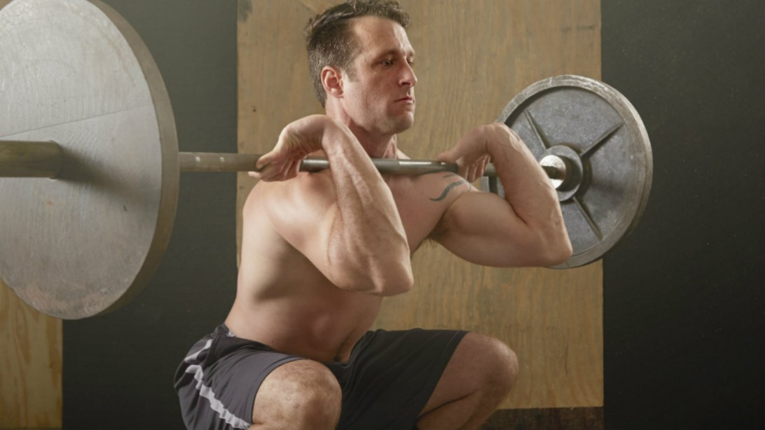 front squat with barbell