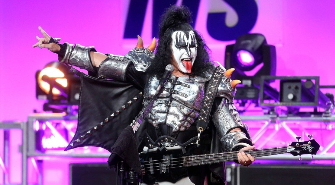 Gene Simmons Onstage with Kiss