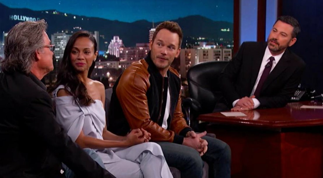 Guardians Of The Galaxy Cast On Jimmy Kimmel Live