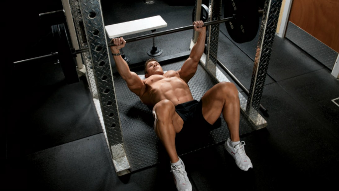 bench press on floor