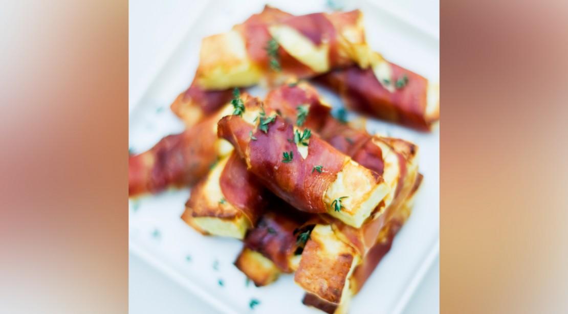 Bacon-Wrapped Halloumi Fries