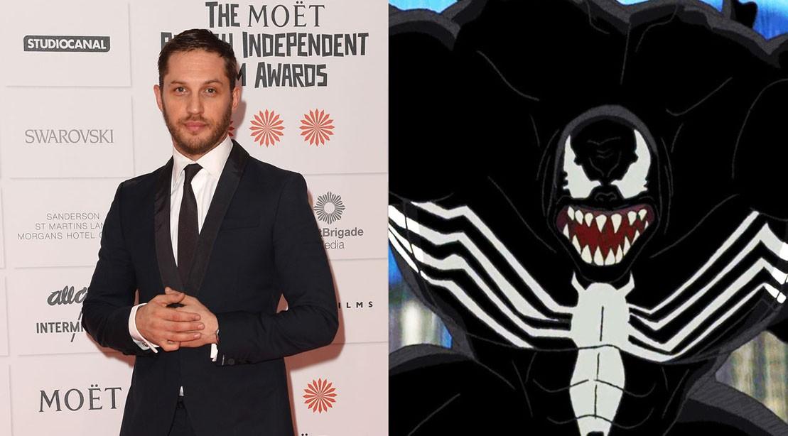 Tom Hardy and Venom costume