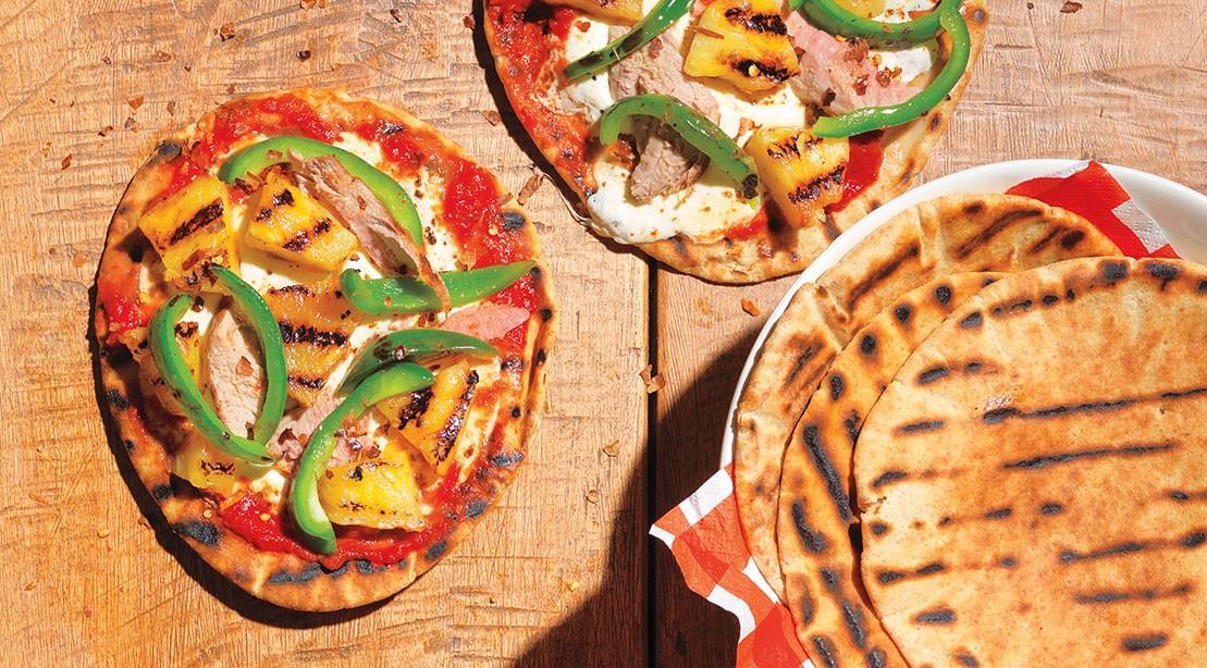 Hawaiian Pita Pizza