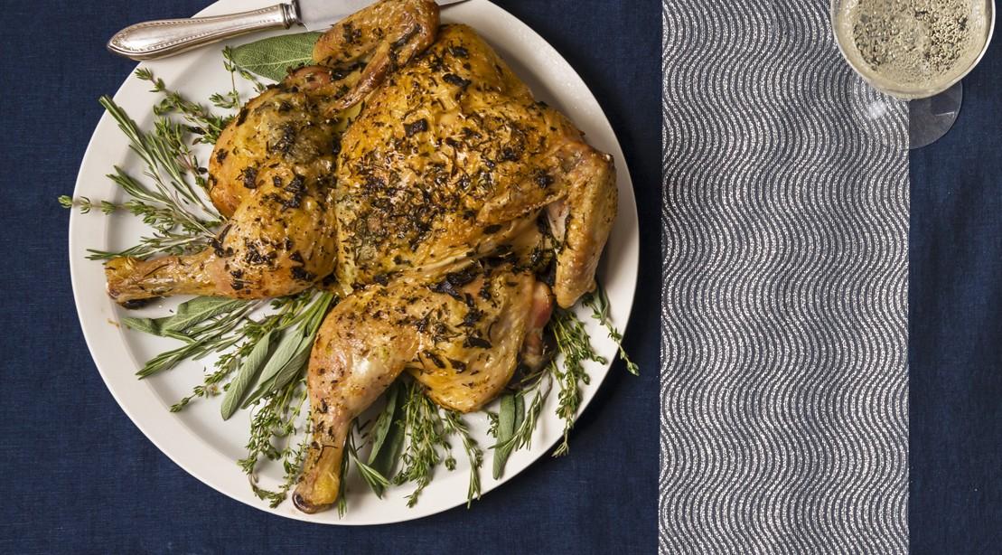 Fast Herb Roast Chicken