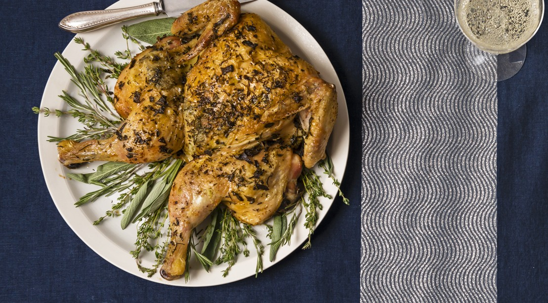 Fast Herb Roast Chicken