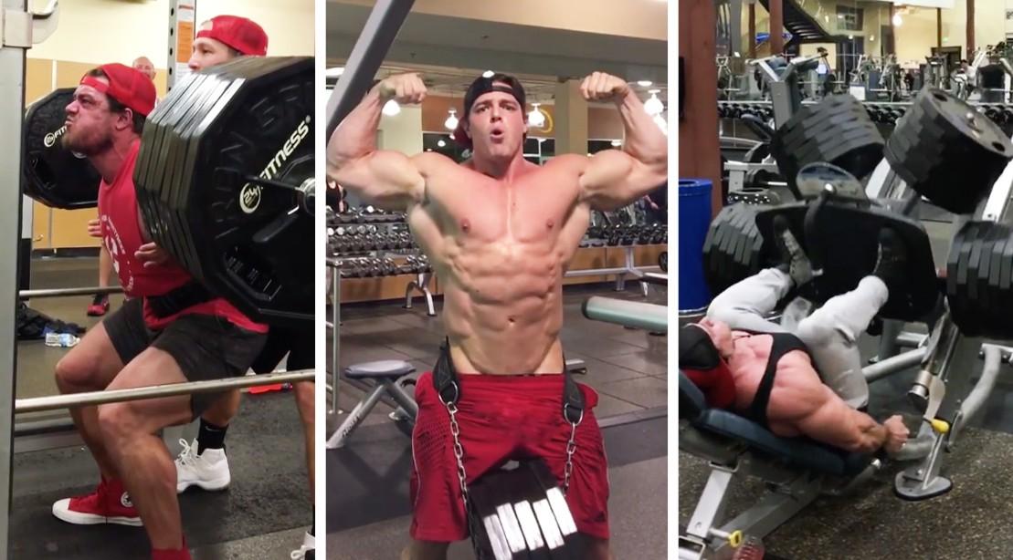 Bradley Castleberry lifting weights