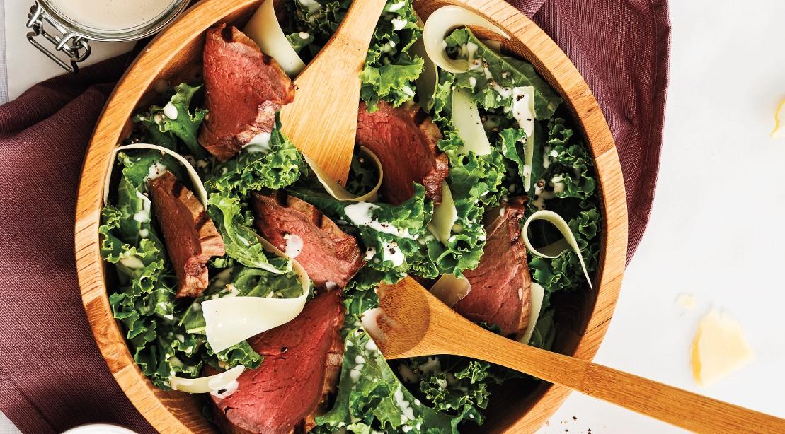 Italian Kale and Beef Salad