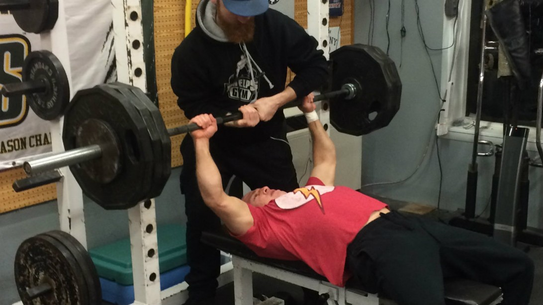 Jim McHugh bench press