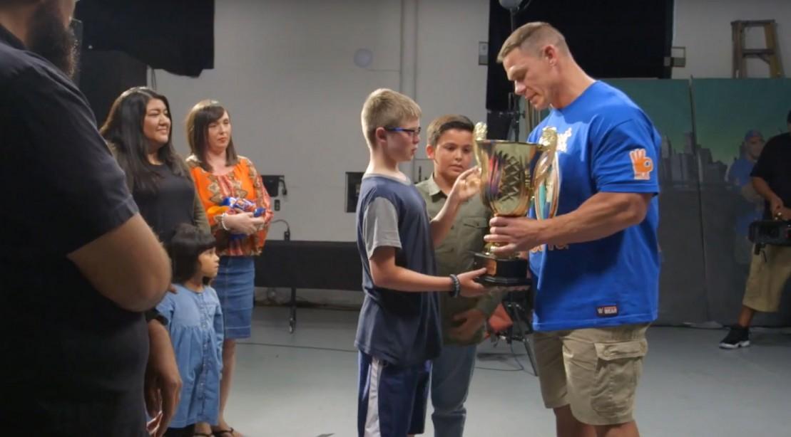 "John Cena Receives ""Life Changer"" Trophy"