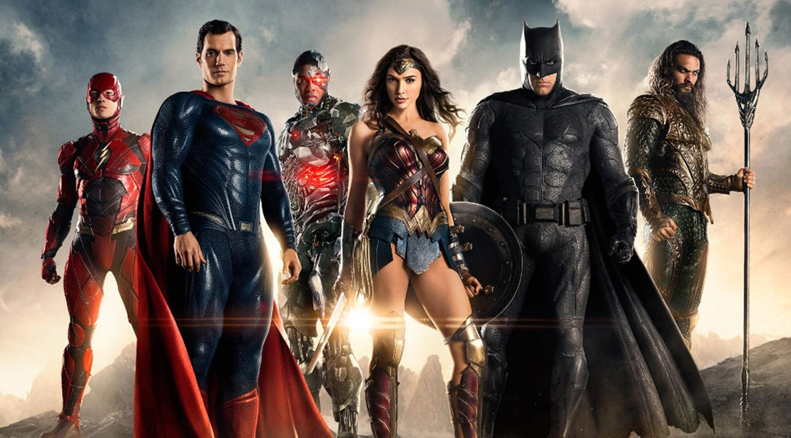 Batman, Superman, Aquaman, Wonder Woman, Flash, Cyborg Of The Justice League