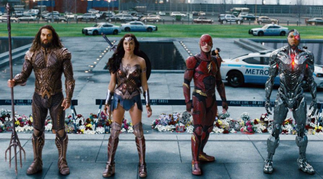 Aquaman, Cyborg, The Flash and Wonder Woman in Justice League