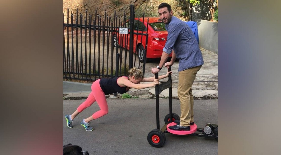 Kate Upton Does Sled Pushes With Justin Verlander