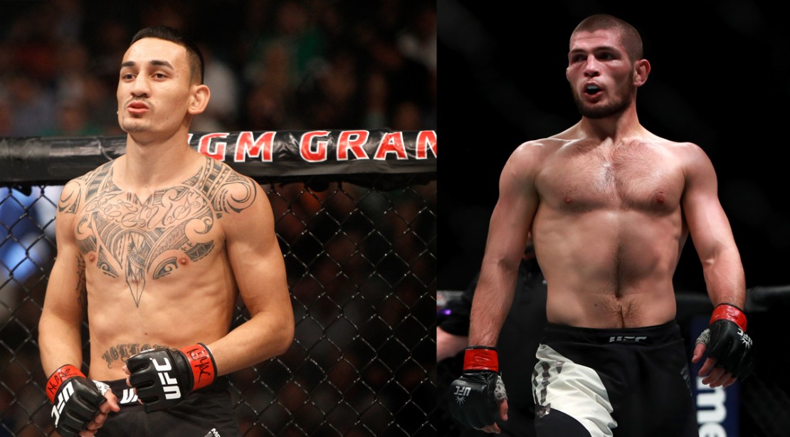 UFC 223 Headliners Khabib Nurmagomedov and Max Holloway