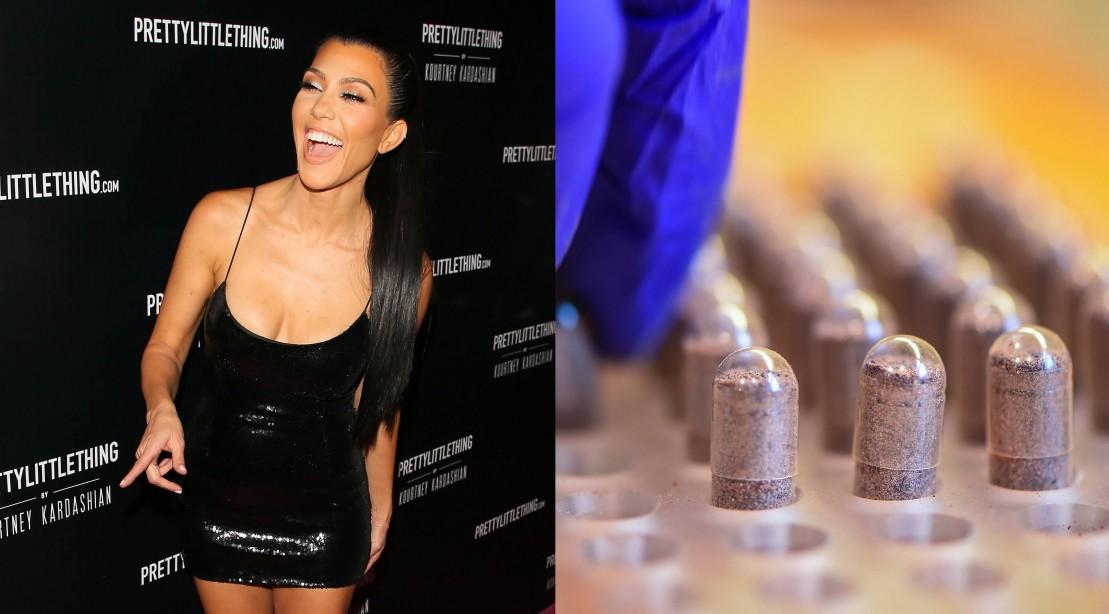 Kourtney Kardashian and Placenta Pills