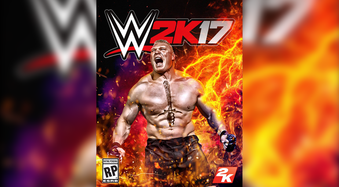 Brock Lesnar gets the cover of WWE 2K17