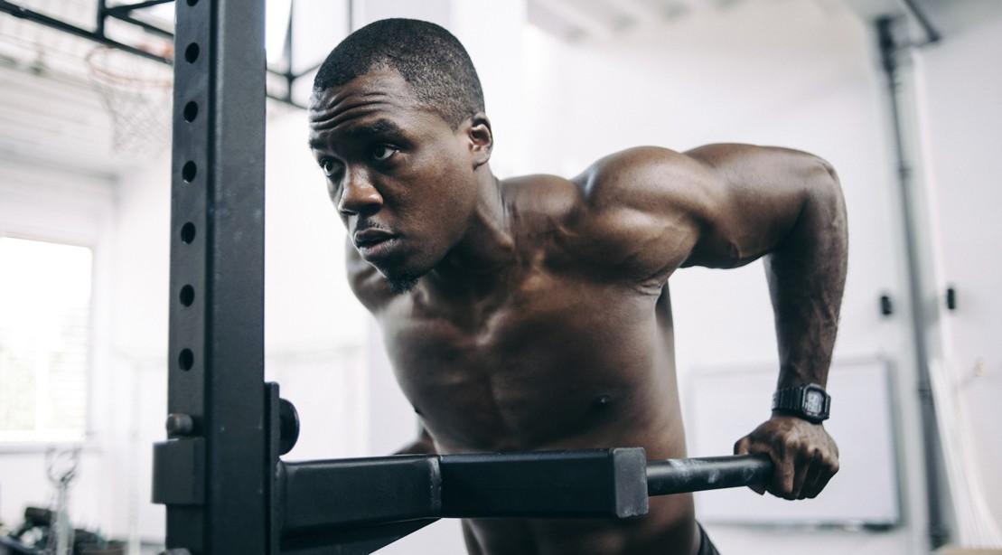 Man Doing Bodyweight Dip