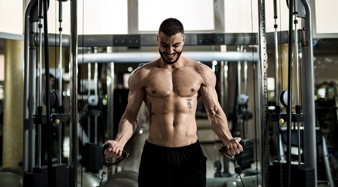 man workout gym cable 11009