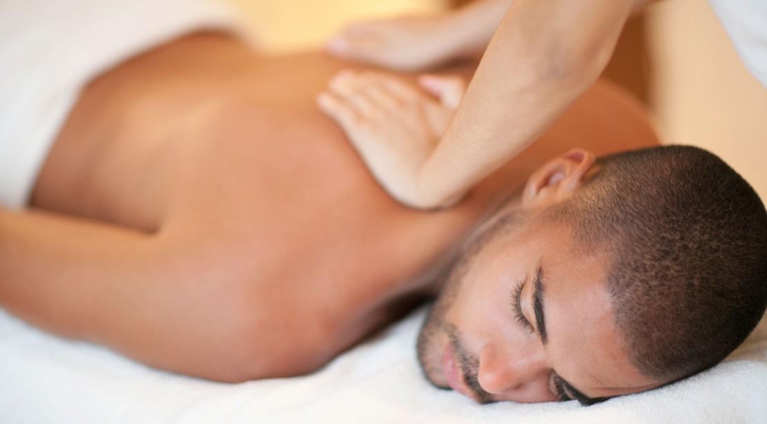 Man Getting Massage