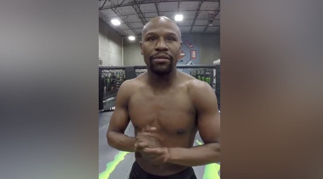 Watch: Mayweather Jr. Asks Ridiculous Rhetorical Question, While in an Octagon Again