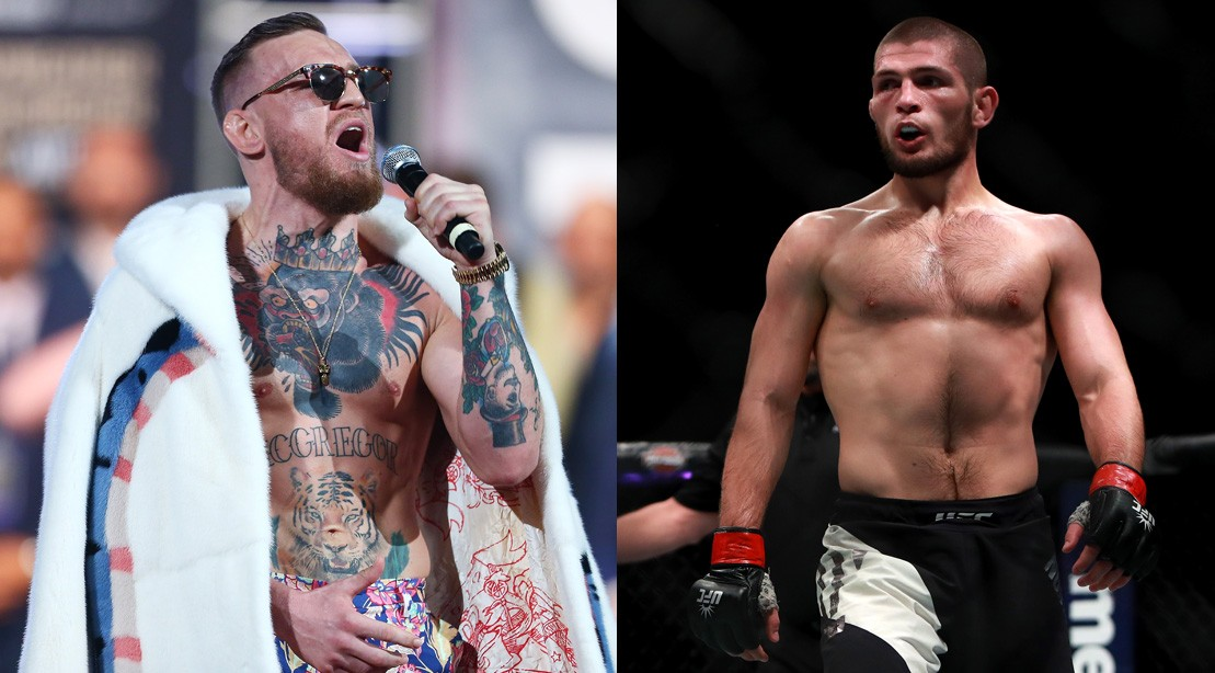 McGregor Demands Khabib Get on His 'F**king Knees and Beg' for a Title Shot