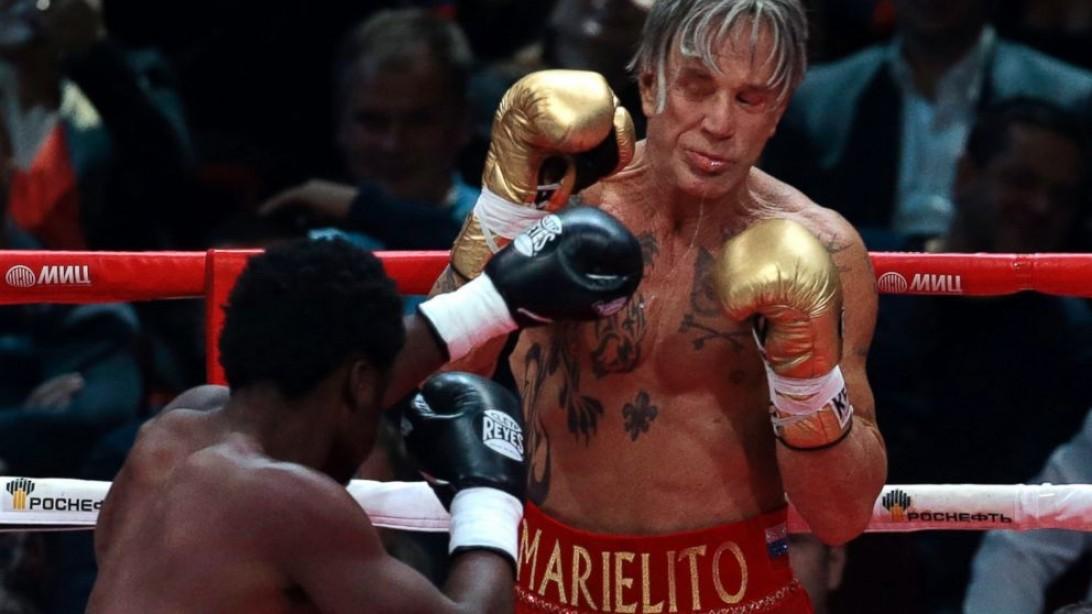 mickey rourke fight